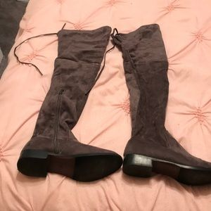 Womens Grey Over the Knee Boots size 7